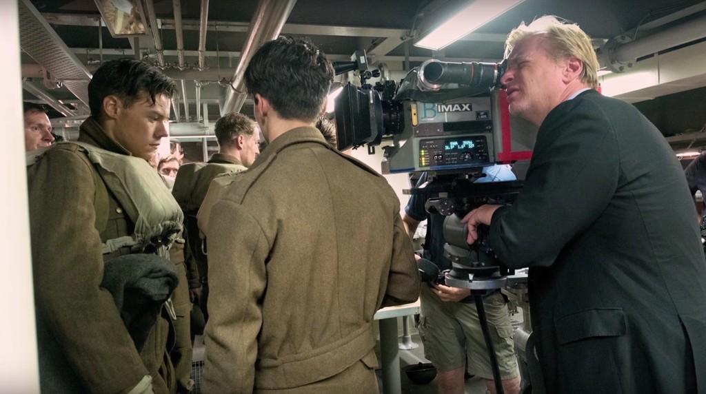 Nolan on the set of Dunkirk