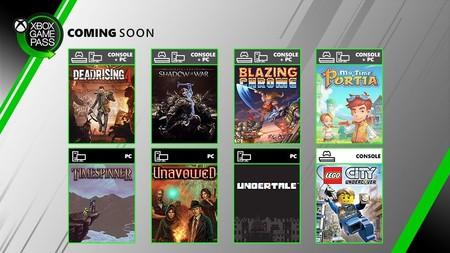 Dead Rising 4, Undertale y Sombras de Guerra entre los juegos de Xbox Game Pass en julio junto con una prueba de Gears 5