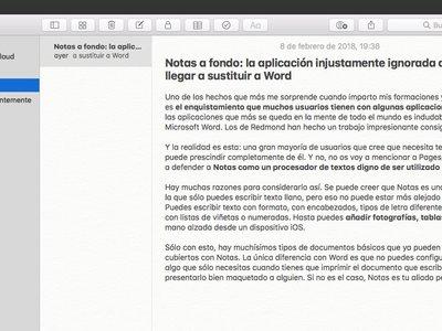 Esta es Notas, la aplicación injustamente ignorada que puede llegar a sustituir a Word