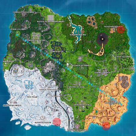 Mapa Caras Fortnite