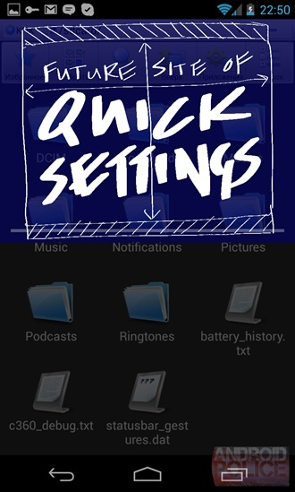 Quick Settings Android 4.2 screenshot