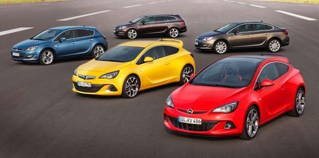 Gama Opel Astra 2013