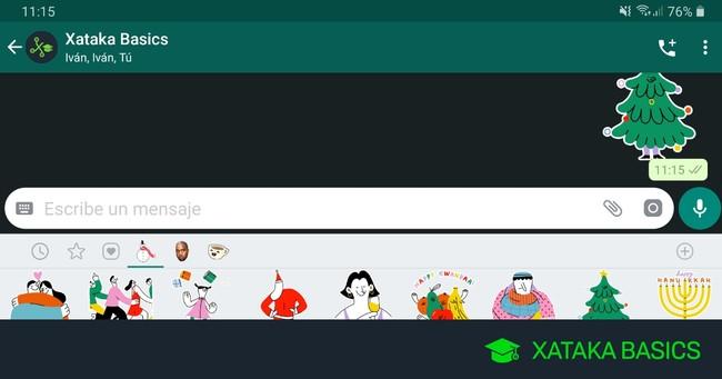 Cómo descargar los nuevos stickers de Navidad de WhatsApp