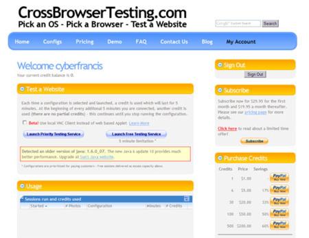 CrossBrowserTesting.com, comprueba tus sitios web en diferentes navegadores