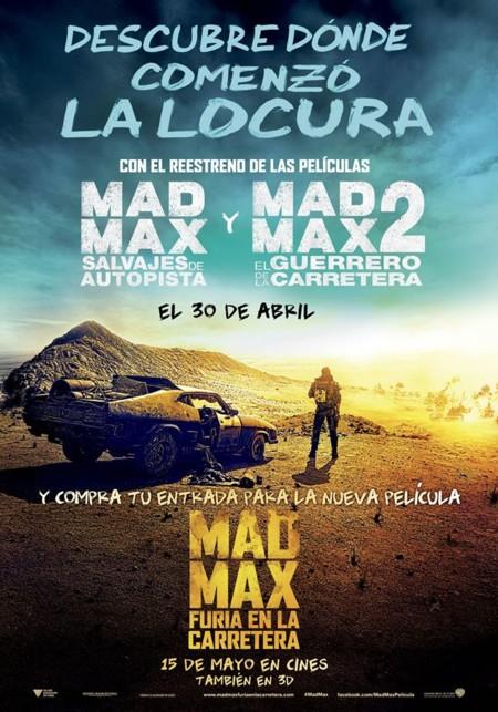 Póster del reestreno de la saga Mad Max