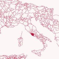 Todas las carreteras del Imperio Romano, reunidas en un minimalista mapa