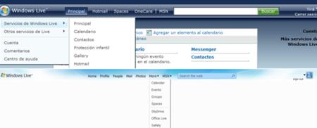 Cabeceras Windows Live