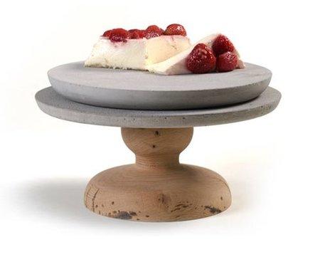 Colección de platos de cemento