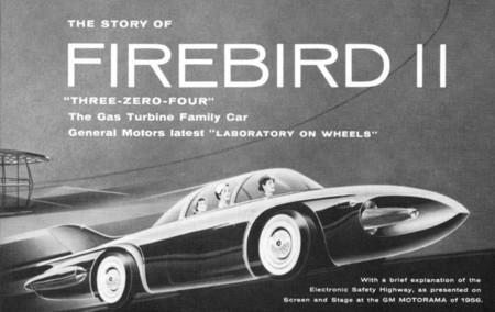 Cartel de 1956 de la presentación del GMC Firebird II