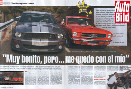 2007 Shelby Mustang GT500 vs 1965 Ford Mustang Fastback 2+2