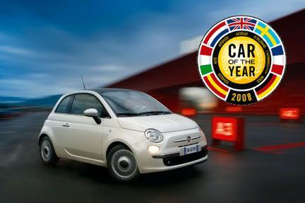 Fiat 500, Coche del año en Europa 2008