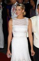 El look de Charlene de Mónaco en la cena de gala de la boda real