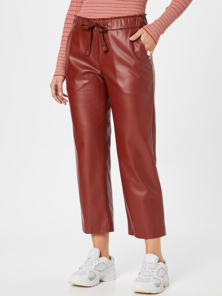 Pantalon Brax Efecto Piel Rojo
