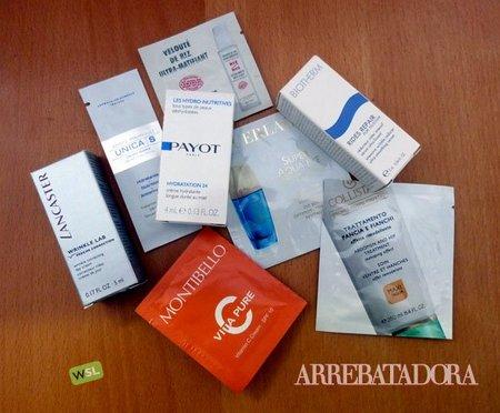 Utiliza tus muestras de cosmética una a una para que sean eficaces