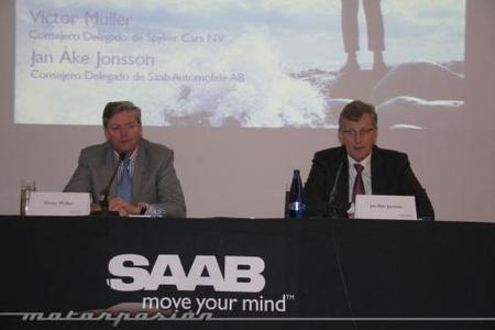 Jan Ake Jonnson y Victor Muller de Saab