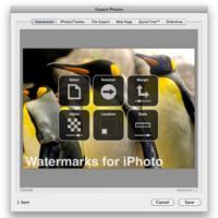 Impression for iPhoto, marcas de agua en tus fotos