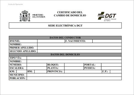 Cambiar Domicilio Conductor Dgt 06