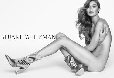 Gigi Hadid posa totalmente desnuda para Stuart Weitzman