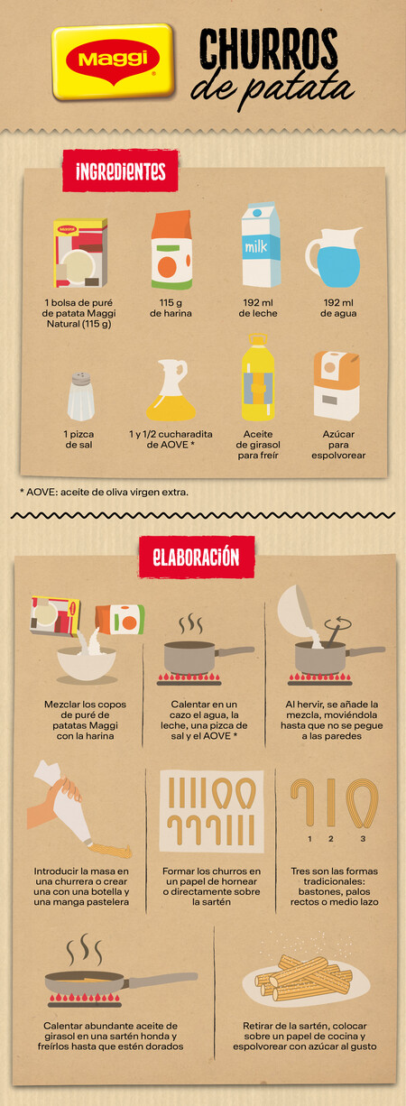 Infografia Maggi Churros De Patata V2