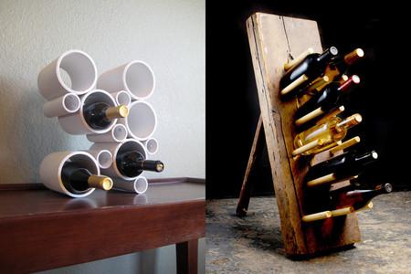 17 ideas para hacer tú mismo unos botelleros muy originales para la casa