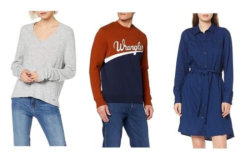 Chollos en tallas sueltas de vestidos, camisetas y sudaderas de marcas como Lee, Wrangler, Pepe Jeans o Quiksilver en Amazon