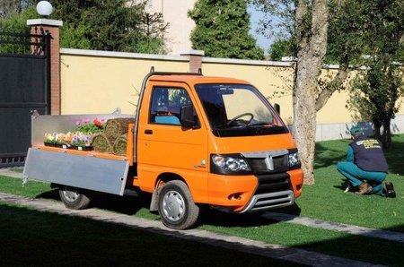 La Piaggio Porter Bi-fuel que funciona a gas