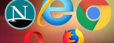 Navegadores web que arrasaron: primero Netscape, luego Internet Explorer y por último Chrome, así ha sido la evolución desde 1996