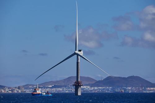 El primer aerogenerador marino de España se llama Elisa, y usa una tecnología pionera en el mundo