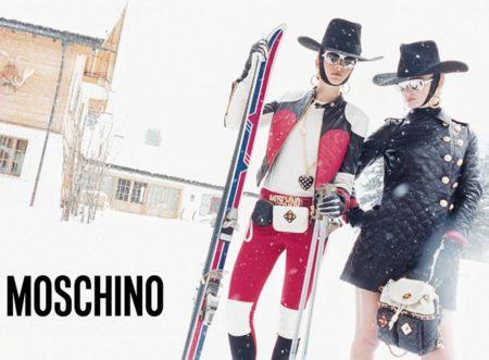¡Claro! A la nieve ahora se va de esta guisa. Moschino campaña Otoño-Invierno 2012/2013