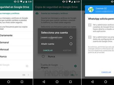 WhatsApp empieza a desplegar a todos los usuarios la sincronización con Google Drive