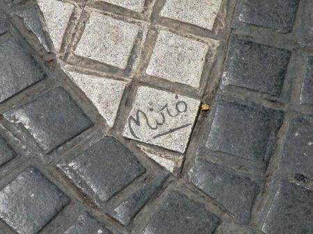Mosaico de Miró en Barcelona