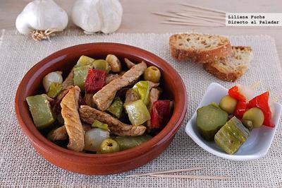 Pica-Pau con carne de cerdo y encurtidos. Receta