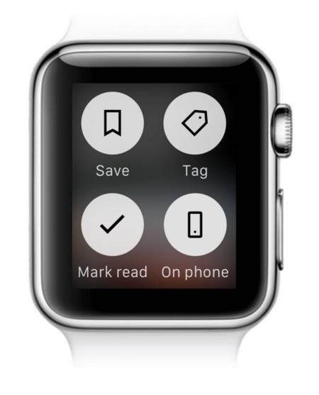 Feedly Apple Watch Opciones