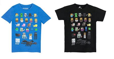 Camiseta para niño de Minecraft  desde 6 euros. Todas las tallas disponibles en Amazon
