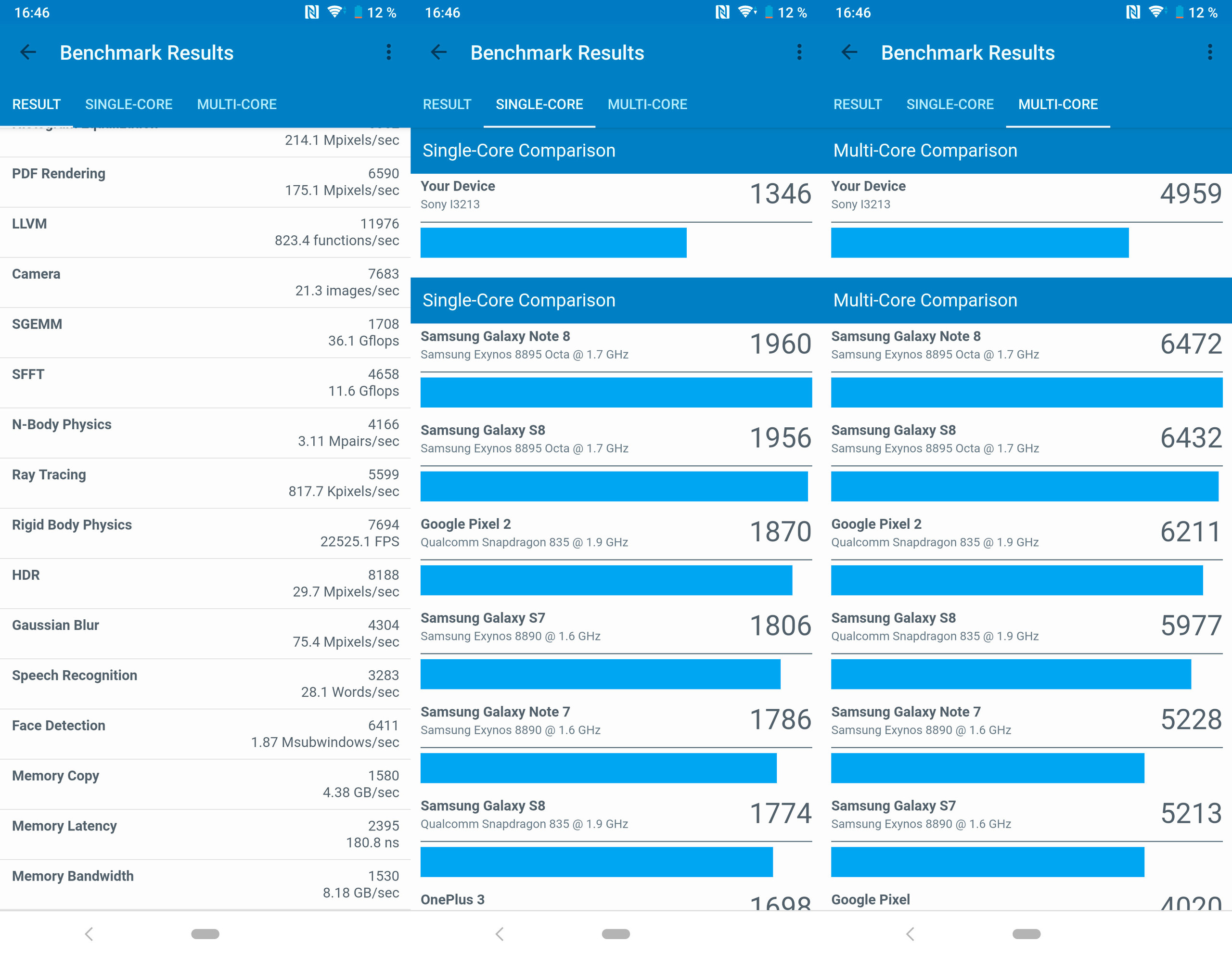 Sony Xperia 10 Plus, benchmarks