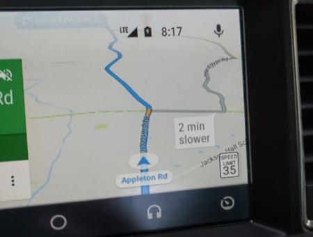 Android Auto Google Maps Velocidad