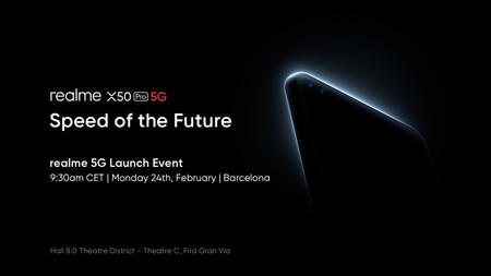 El Realme X50 Pro 5G se presentará oficialmente el 24 de febrero en Barcelona durante el Mobile World Congress