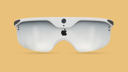 Concepto gafas Apple