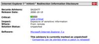 Internet Explorer 7: descubierta la primera vulnerabilidad