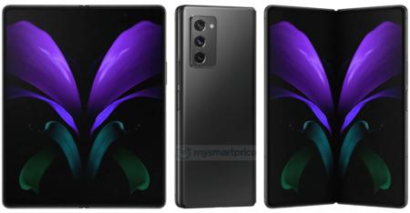 Samsung Galaxy Z Fold 2 5g Mytic Black Ngro Filtracion Renders Alta Calidad
