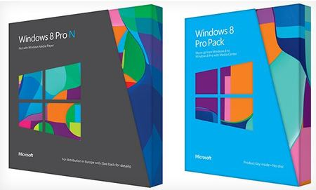 Embalaje Windows 8