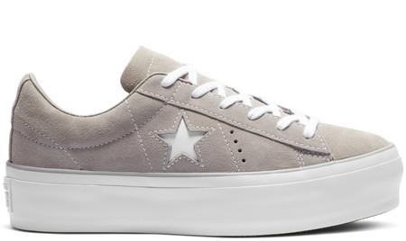Converse One Star Platform Suede