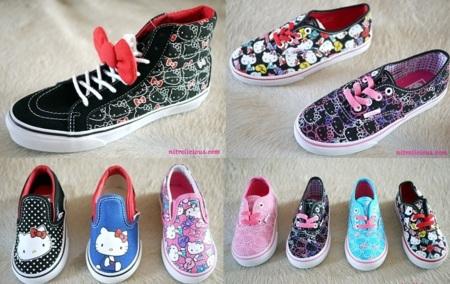 Zapatillas Vans Hello Kitty, colección primavera-verano 2012