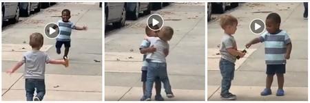 El vídeo viral de dos niños pequeños cuyo emocionado abrazo está cautivando a todos