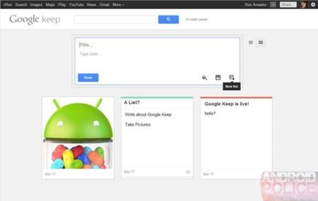 Así es Keep, el gestor de notas y contenido que Google aún no quiere que veas