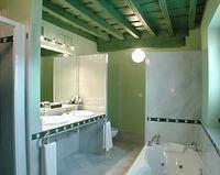 Un baño con varias zonas