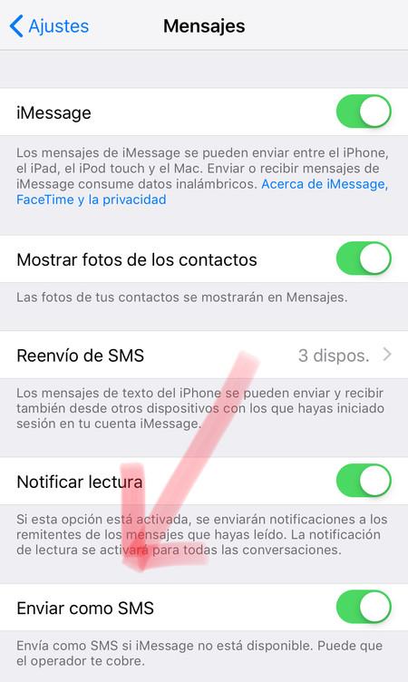 Mensajes Opciones Iphone