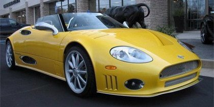 Spyker C8 Spyder amarillo