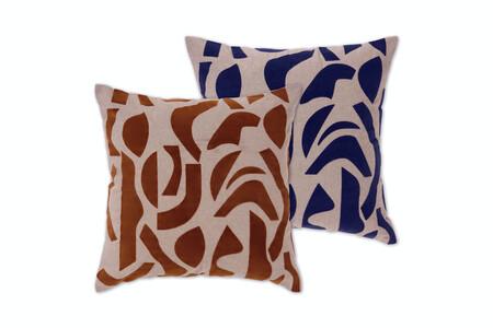 Made Com Mogensen Lopez Lafant Set 2 Flocked Cushion