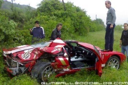 Accidente en la Gumball 3000